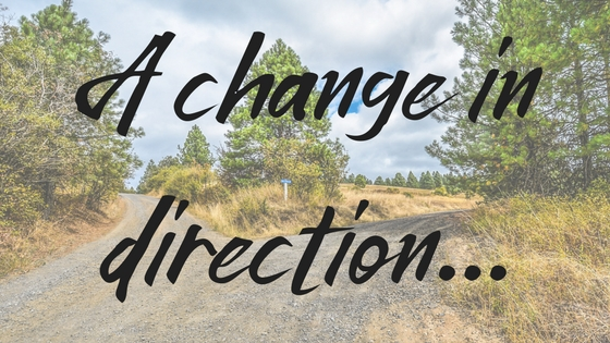 A change in direction...